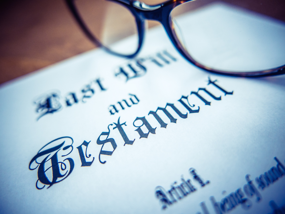 Estate planning - will